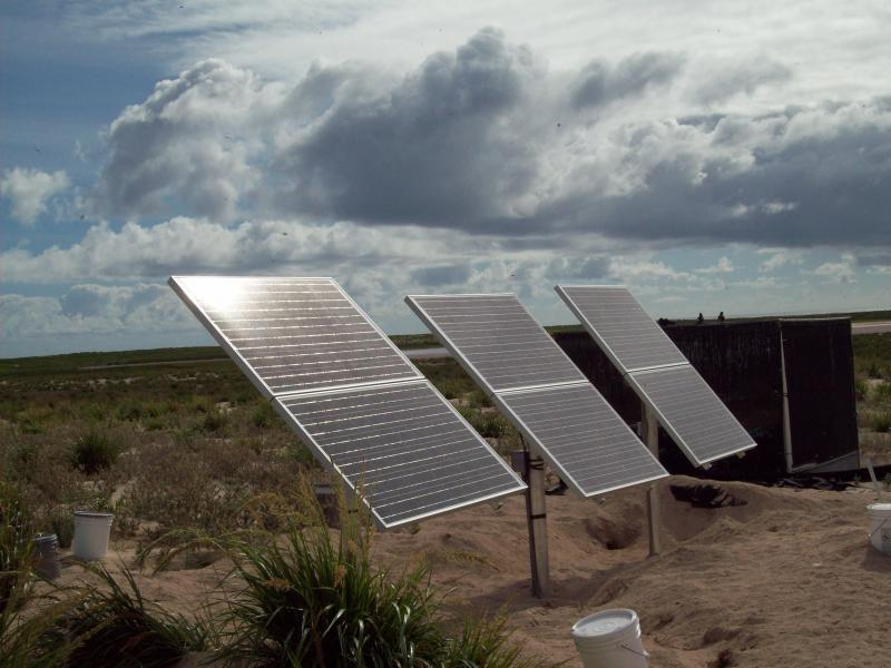 A solar array on Laysan